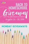 Back to Homeschool Monday Giveaways