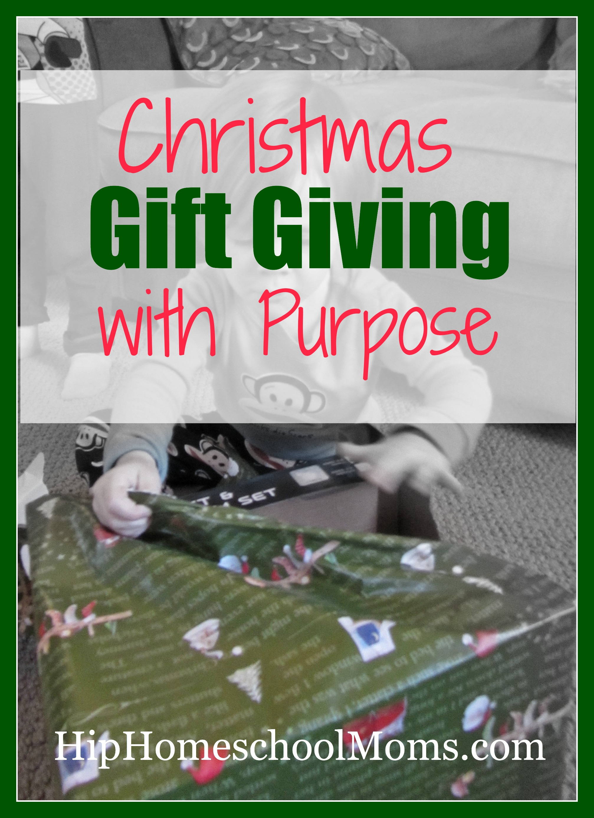 Christmas gift giving with purpose hip homeschool moms christmas gift giving tradition that is patterned after the 3 gifts of the wise men negle Gallery