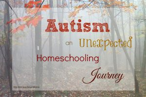 Autism an Unexpected Homeschooling Journey
