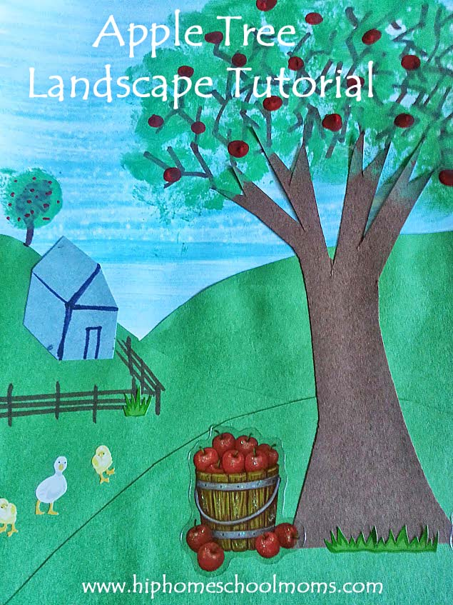 apple tree art project tutorial | Hip Homeschool Moms
