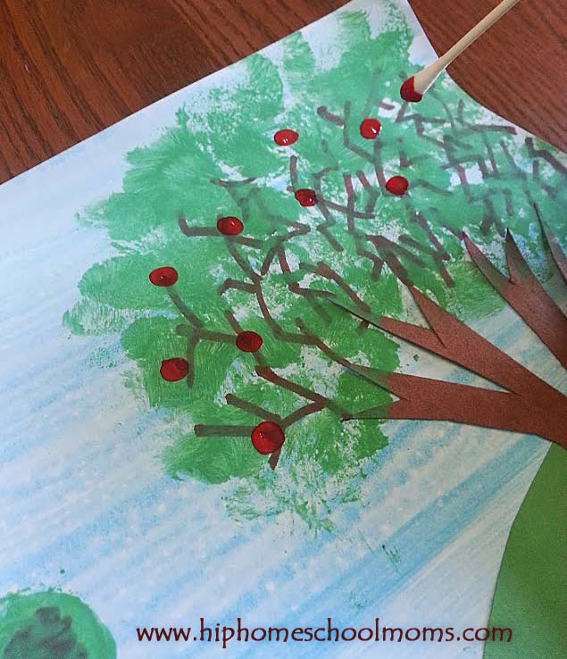Apple Tree Lanscape Project | Hip Homeschool Moms