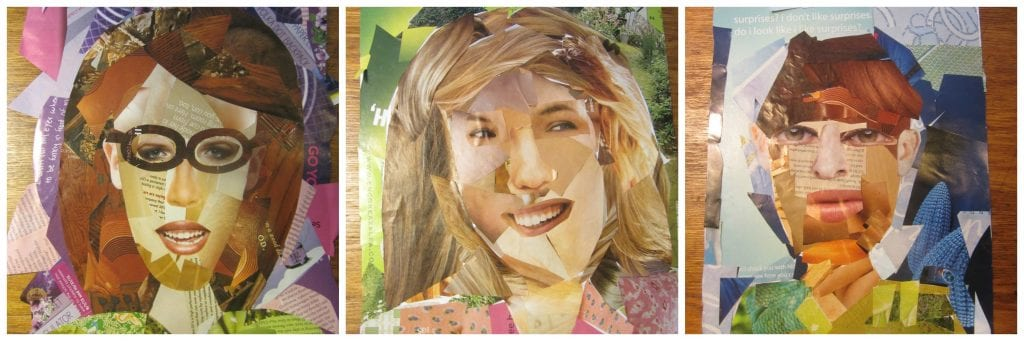 Art Lesson: Self Portrait Collage-Hip Homeschool Moms