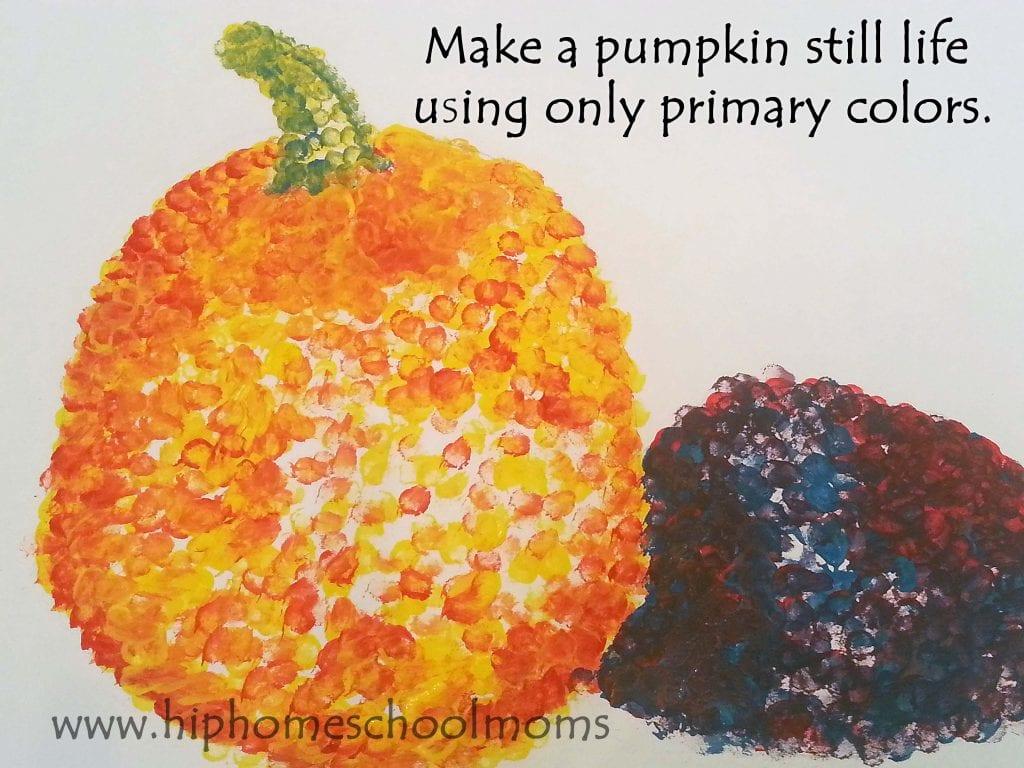 Pumpkin Pointillism | Hip Homeschool Moms