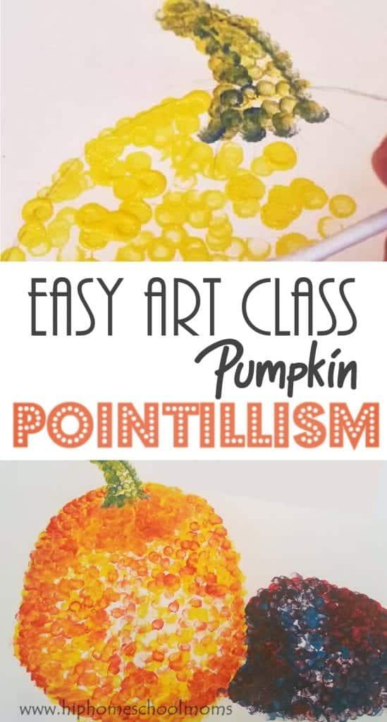 pumpkin pointillism pin 1