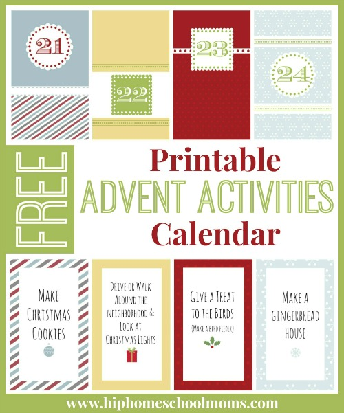 Christmas Calendar Ideas Ks : Printable advent activities calendar hip homeschool moms