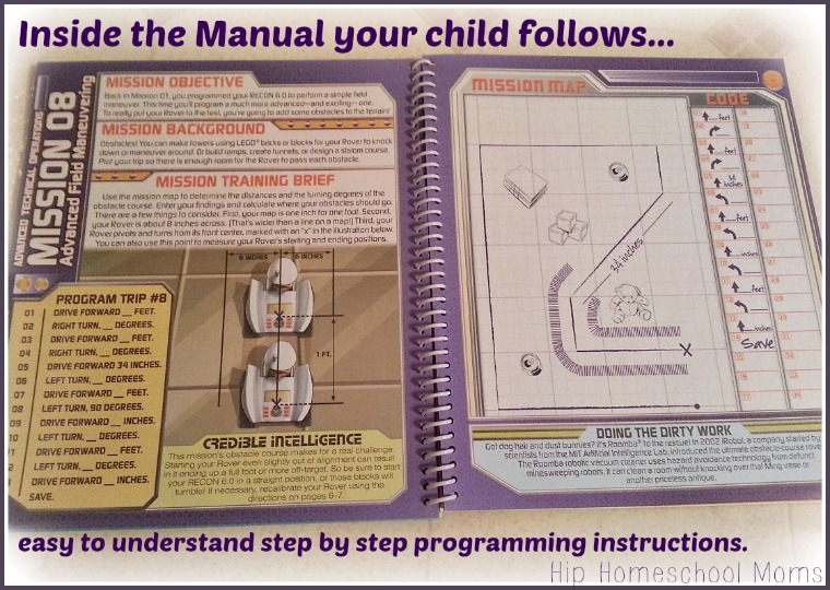Inside the ReCon 6.0 Programmable Rover' Owner Manual | Hip Homeschool Moms
