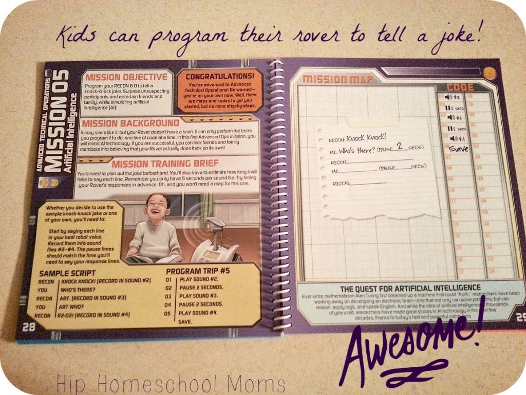 Program the ReCon Rover to tell a joke! | Hip Homeschool Moms