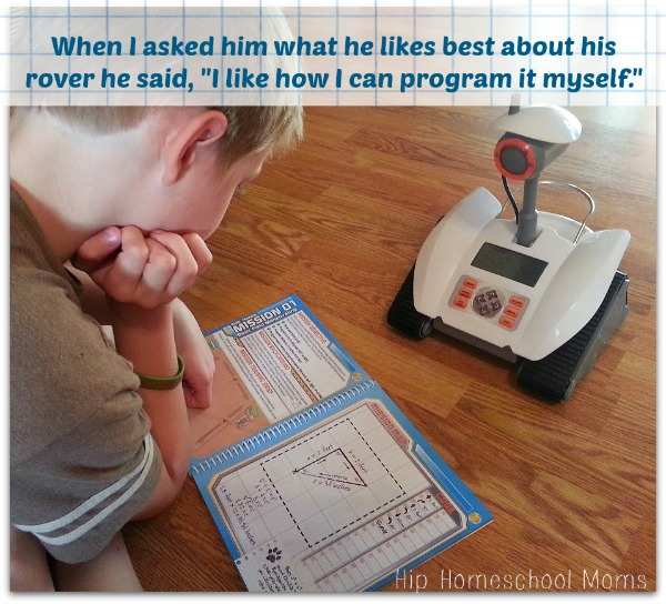 Any child can follow the manual and program the rover on his own. | Hip Homeschool Moms