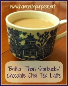 Better than Starbucks Chocolate Chai Tea Latte