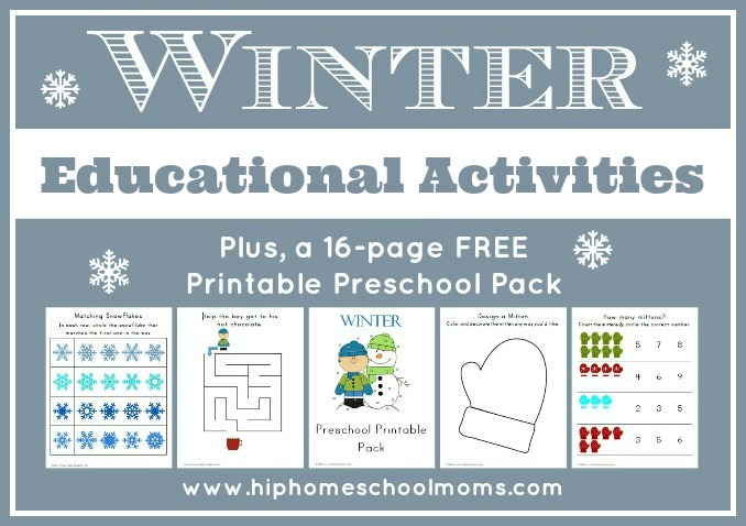 Winter Educational Activities | Hip Homeschool Moms