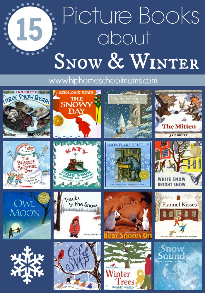 winter picture book collage