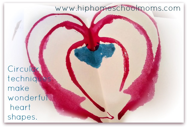 Circular Techniques for Inkblot Valentines | Hip Homeschool Moms