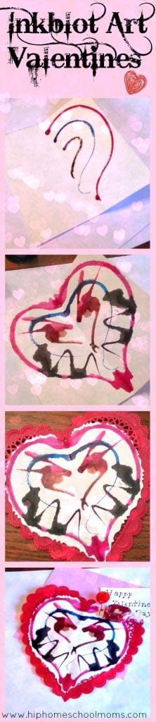 Inkblot Valentines from Hip Homeschool Moms