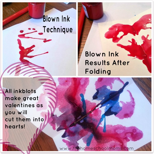 Inkblot Valentines | hip Homeschool Moms