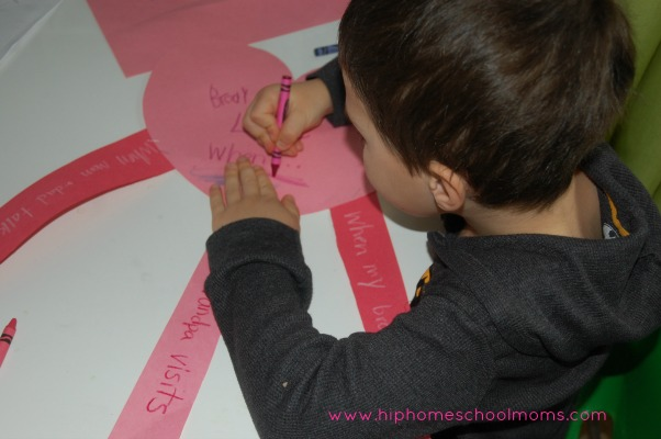 """""""I feel love when..."""" Valentine's Day Craft"""