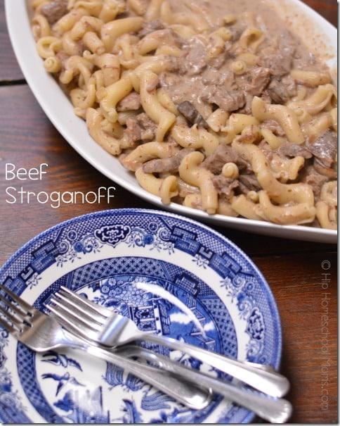 Beef Stroganoff - pinnable
