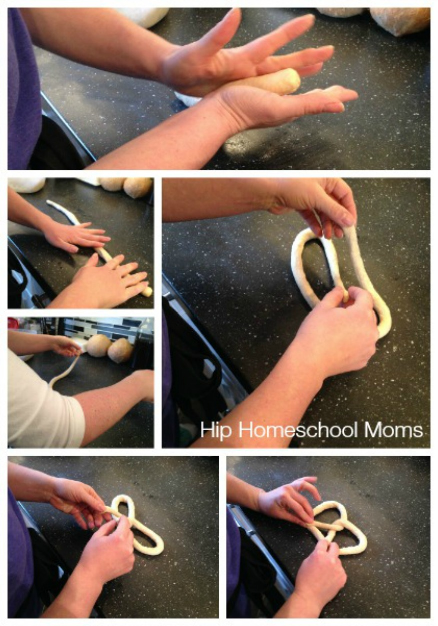 how to roll pretzels