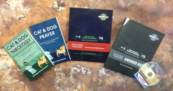 Homeschool Curriculum Kit-Year 1 Cat and Dog Theology Pinnable Image