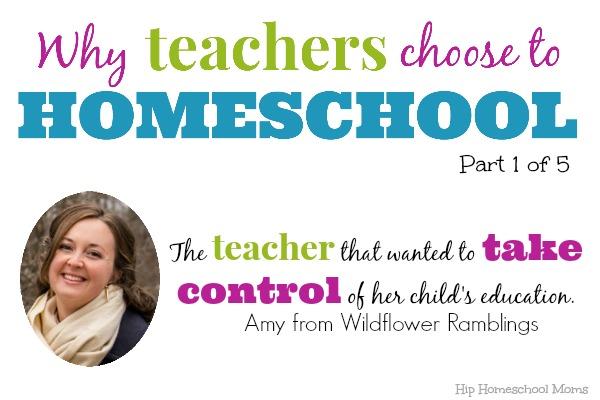 Why Teachers Homeschool Amy
