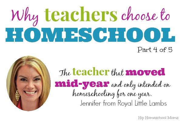 Why Teachers Homeschool Jennifer