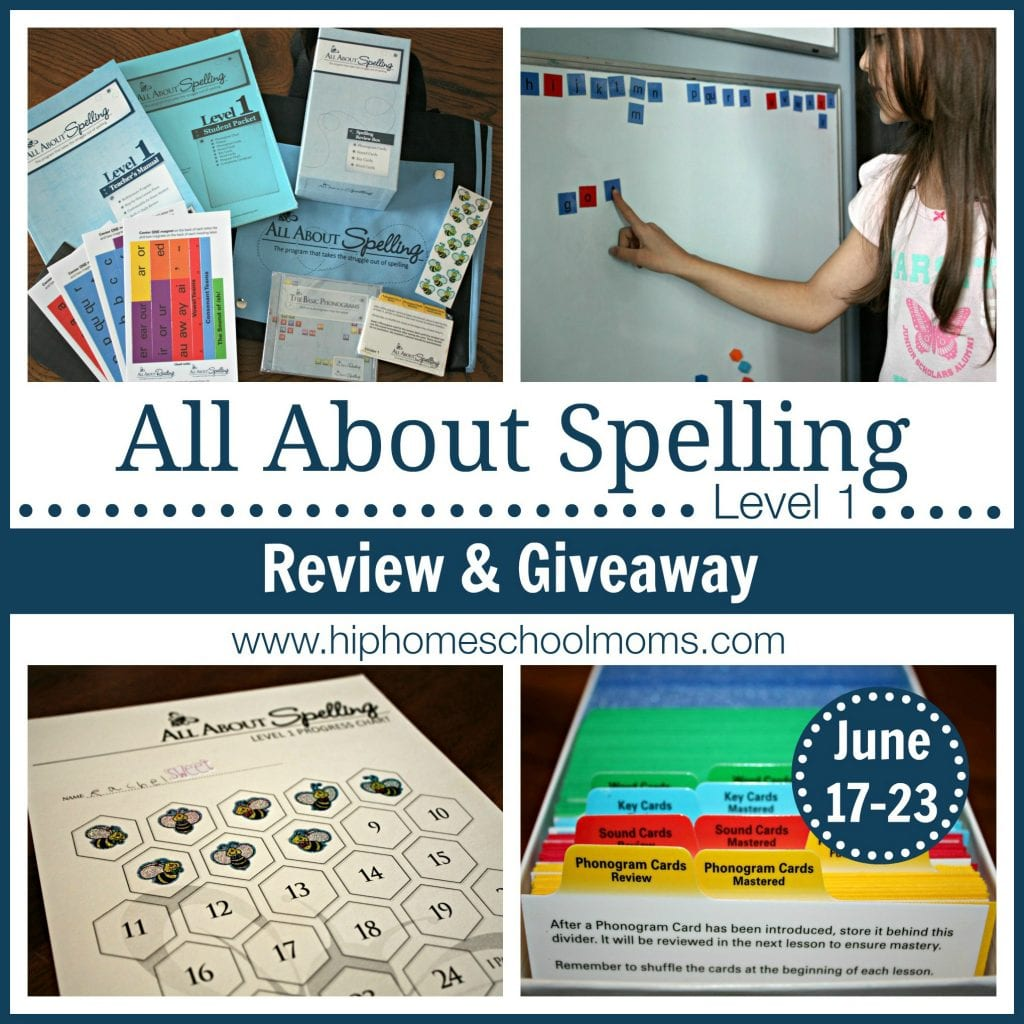 All About Spelling Review & Giveaway