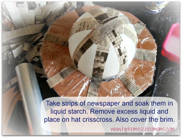 Paper Mache Hats- Can be mamde using ballon, liquid starch and newspaper. | Hip Homeschool Moms