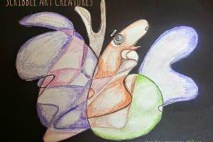 Scribble Art Creatures | hip Homeschool Moms