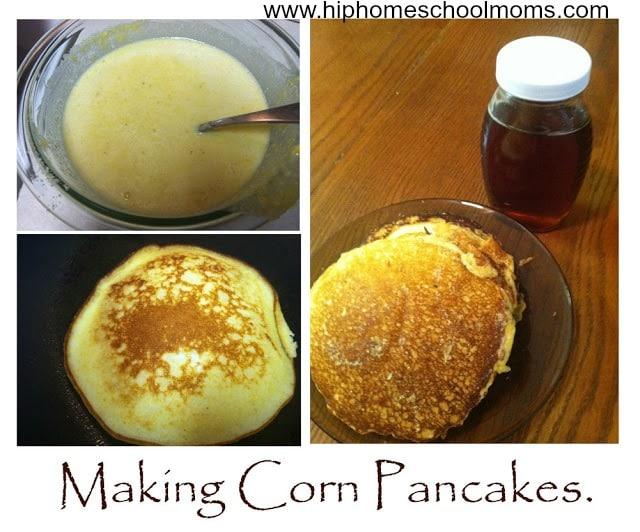 Making Corn Pancakes | Activities for Nastive American History | hip Homeschool Moms