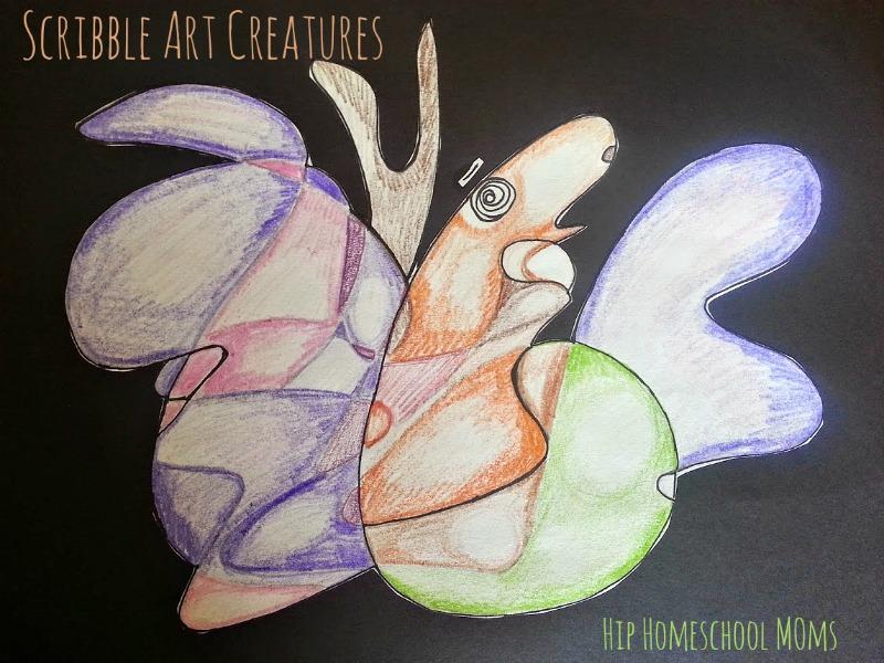 Scribble Art Creatur Tutorial | Hip Homeschool Moms