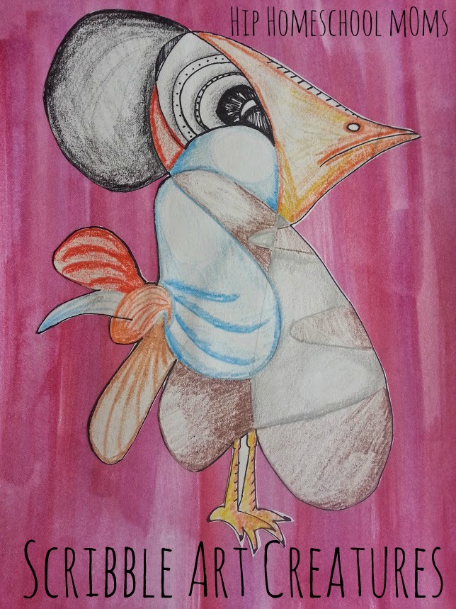 Scribble Art Creatures Tutorial | Hip Hoemschool Moms