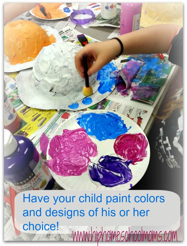 Paint hats in different colors and designs. | Hip Homeschool Moms