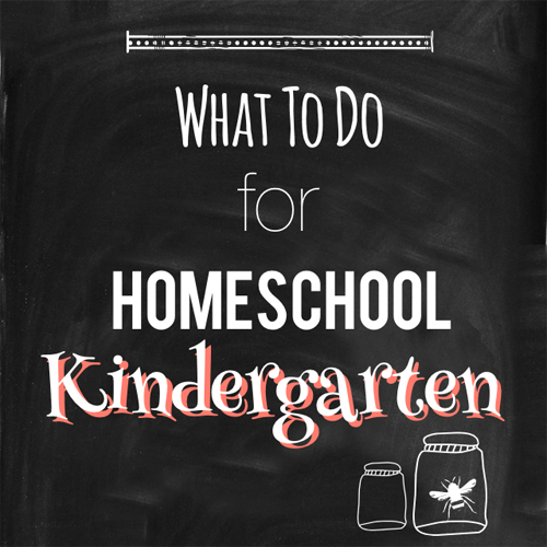 Thoughts from an older mom on homeschool kindergarten