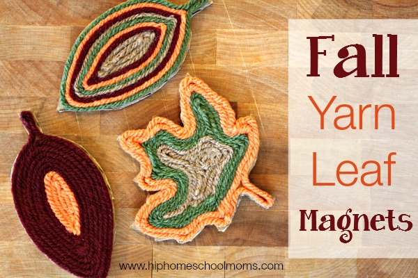 Yarn Leaf Magnets