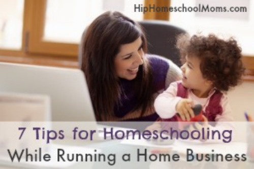 homeschooling while running a home business