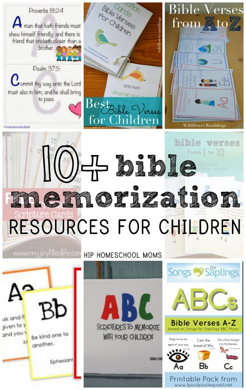 Bible Memorization -- 10+ FREE RESOURCES for children!! Hip Homeschool Moms