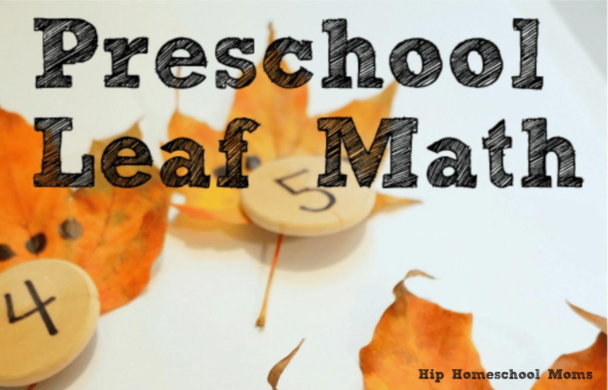 math for preschoolers using fall leaves