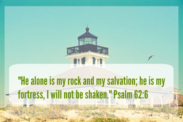 He alone is my rock and my salvation