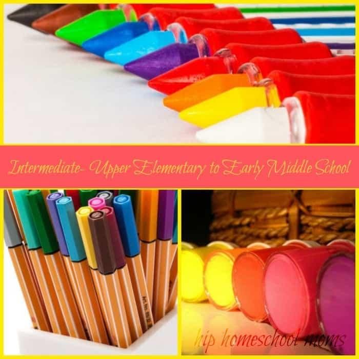 Big List of Homeschool Art Supplies: Intermediate- Upper Elementary to Early Middle School