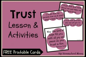 Trust Lesson & Activities with Free Printable