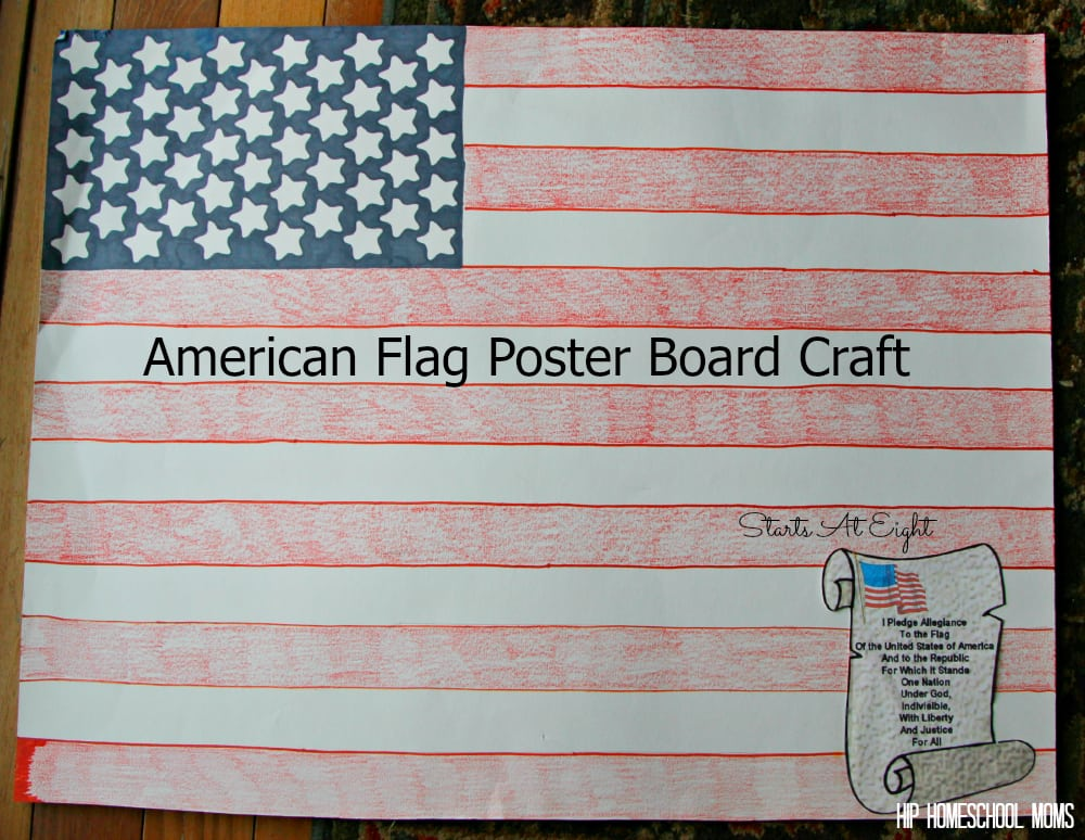 American Flag Poster Board Craft