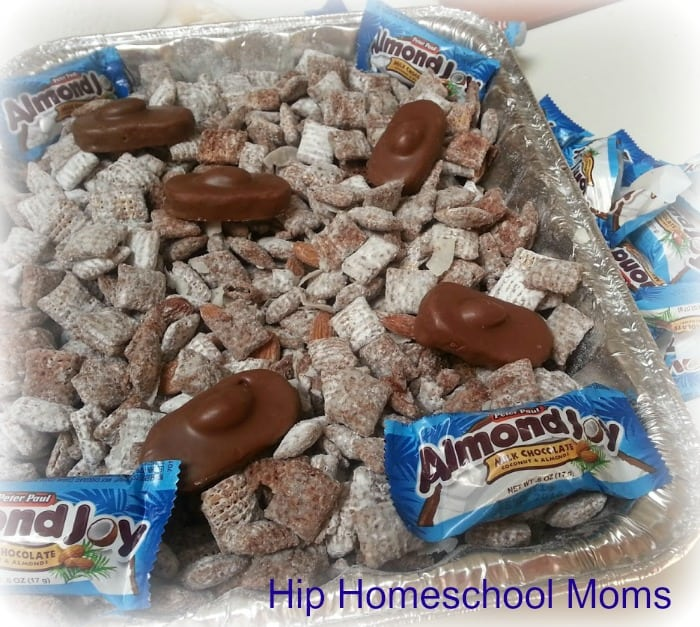 Almond Joy Puppy Chow Recipe | Hip Homeschool Moms