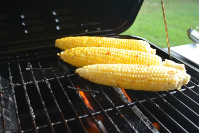 Honey BBQ Chicken Skewers with Grilled Corn from Hip Homeschool Moms