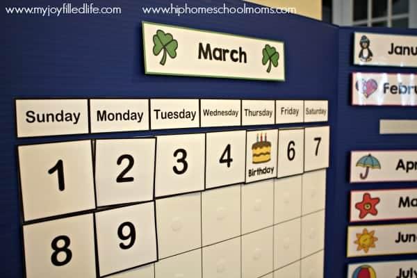 Diy Portable Calendar Board Hip Homeschool Moms