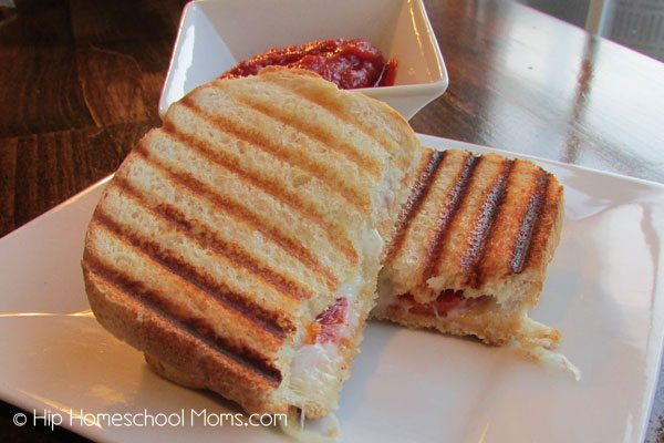 Pizza Grilled Cheese Sandwiches from Hip Homeschool Moms