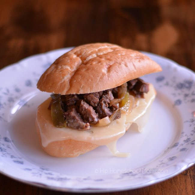 Slow Cooker Philly Cheese Sandwiches from Hip Homeschool Moms