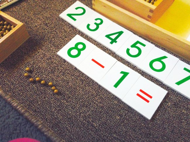 Montessori Four Operations: Subtraction {Free Printable}