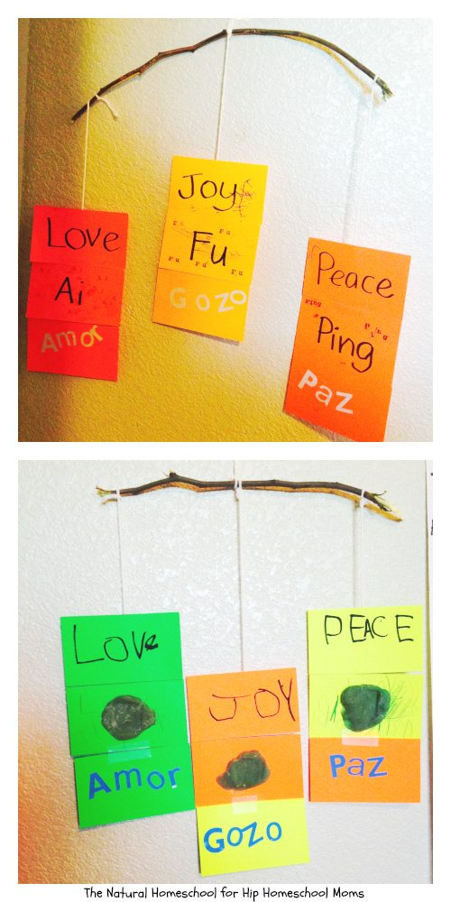 Love, Joy & Peace Craft in English, Spanish & Chinese