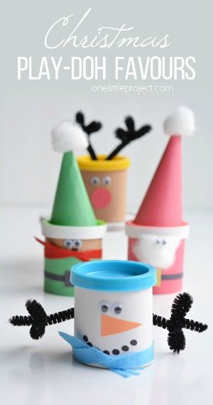 HHM Christmas Playdoh Favours
