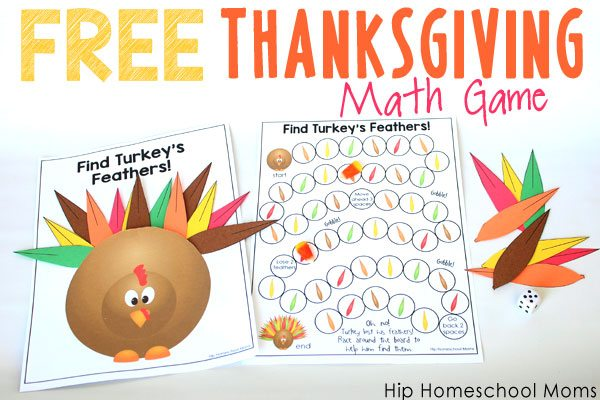 photograph about Math Games Printable named Cost-free Printable Thanksgiving Math Match Hip Homeschool Mothers
