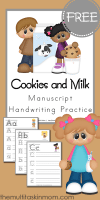 Cookies-and-Milk-Manuscript-Handwriting-Practice-for-FREE-from-The-Multi-Taskin-MOm